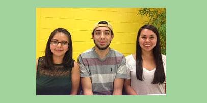 Jessica Martinez, Alfonso Galindo, and Adriana Portillo