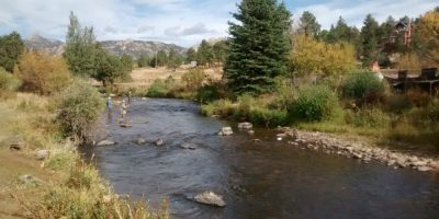 Big Thompson River in Estes Park, CO
