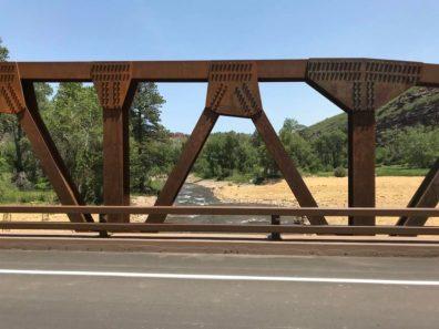New bridge over St. Vrain river.