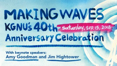 Making Waves: KGNU's 40th Anniversary Celebration