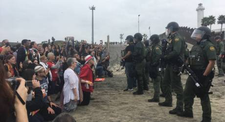 Faith Leaders From Around the Country March to the US/Mexico Border in Support of Migrant Caravan