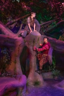 """Production Photo, """"The Squirrels"""" - L to R Leiney Rigg and Hossein Forouzandeh"""