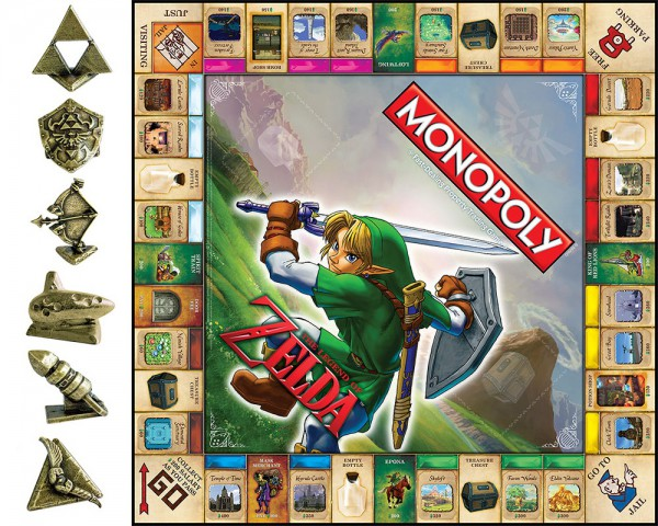 The Legend of Zelda Monopoly Edition Brett und Figuren