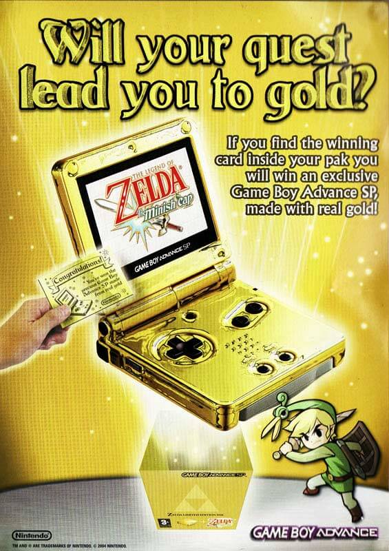 24 Karat Gold GameBoy Advance SP