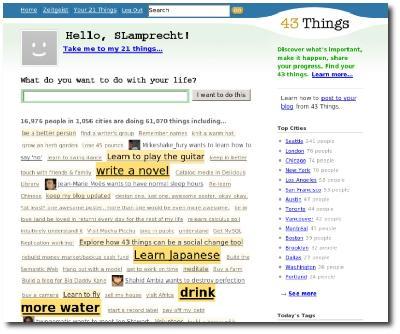 43Things Homepage