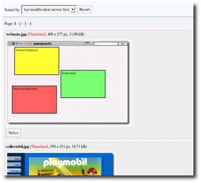 Screenshot Imagebrowser