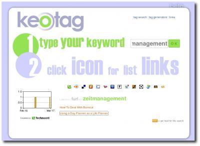 keotag - Suchmaschine für Tags