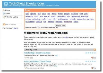 Oberfläche TechCheatSheets