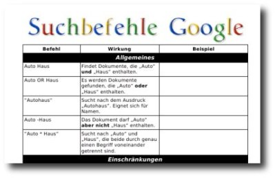 Vorschau Google Referenz
