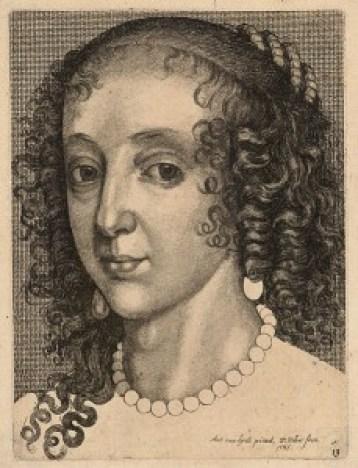 Portrait of Henrietta-Maria of France, by Wenceslas Hollar
