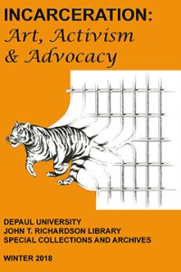 Incarceration Exhibit Poster (Tiger leaping from prison bars)