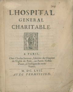 Title page of L'Hospital General Charitable