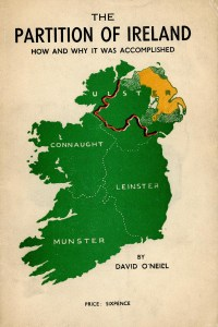 Book Cover, The Partition of Ireland