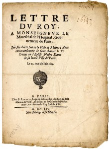 Title page of the edict.