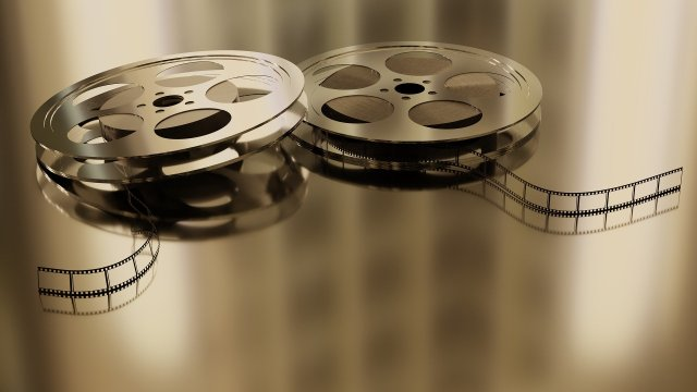 Royalty Free Image of film reels
