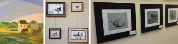 Details of work in the Science and Art of the Eastern Shore exhibit