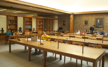 The Barrett Reading Room in Special Collections