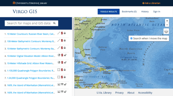 Virgo GIS Screenshot