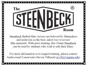 An old sign with the STEENBECK logo.