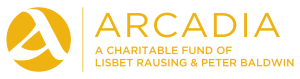 Arcadia logo. Arcadia—a charitable fund of Lisbet Rausing & Peter Baldwin
