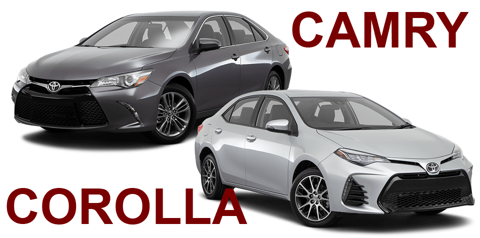 Toyota Camry and Toyota Corolla