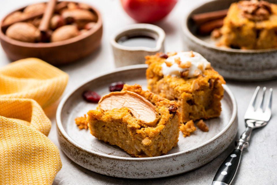 Whole grain pumpkin pie