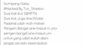 Situs Universitas Negeri Malang Diretas