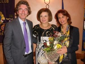 Il Dott. Germano Giordano con la Presidente Emanuela Pastorelli e la Dott.ssa Ghisio