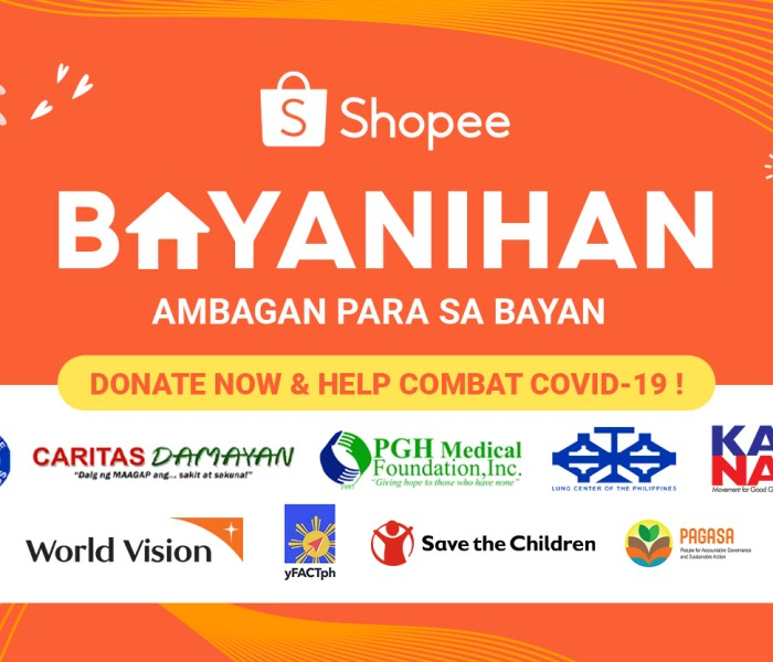 Shopee Bayanihan is Live and Donations are Secured and Easy