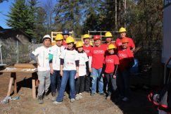 Living Group Volunteers join Habitat for Humanity on York Region Job Site