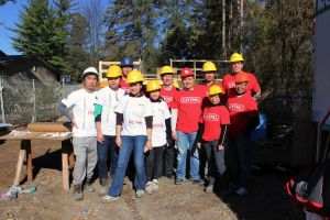 Living Group Volunteers join Habitat for Humanity on York Region Job Site