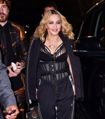 Madonn at the Alexander Wang fashion show