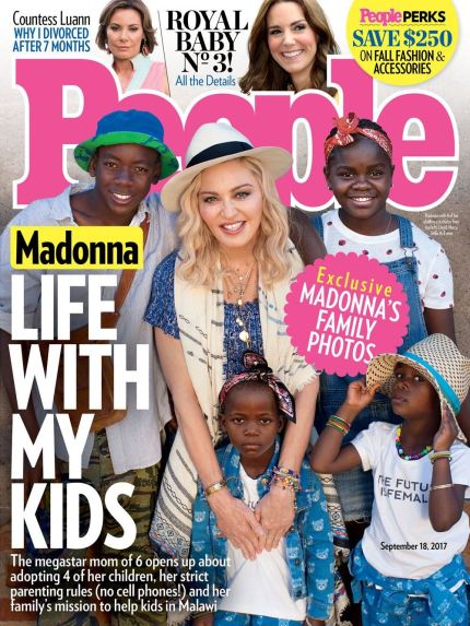 Madonna on the cover of People