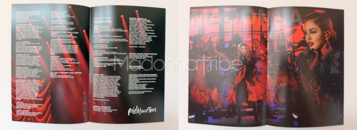 Rebel Heart Tour booklet
