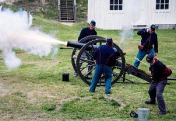 Photo of artillery demonstration