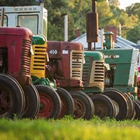 Tractor display at the Frederick Harvest Festival