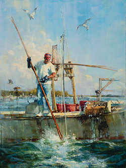 Podgin for Oysters, a Nancy Tankersley Waterfowl Painting