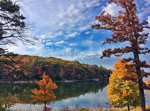 Deep Creek Lake in fall - Photo by Caroline Blizzard