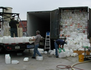 Pesticide container recycling image