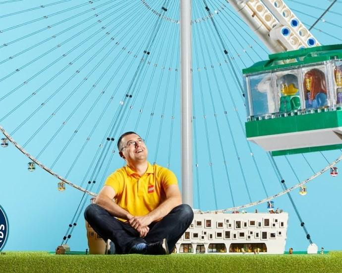 He Built a LEGO® Ferris Wheel from 40,000 Bricks! - Meet The Record Breakers