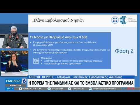 """Επιχείρηση """"Ελευθερία"""" – Το πλάνο εμβολιασμού των νησιών  21/01/2021 ΕΡΤ"""