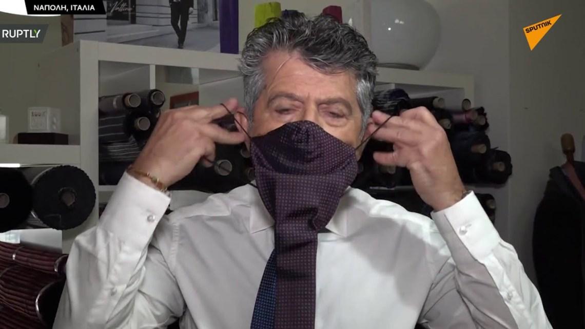 Μάσκα ή γραβάτα; Και τα δύο, προτείνει Ιταλός σχεδιαστής με ευρεσιτεχνία του