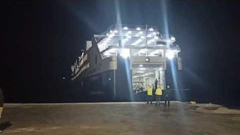 Νάξος: Η πρώτη προσέγγιση του Super Ferry II