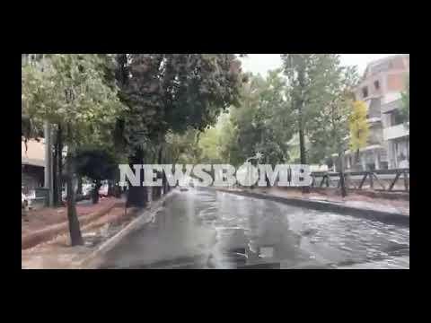 newsbomb.gr: Έγινε ποτάμι η οδός Κωνσταντινουπόλεως
