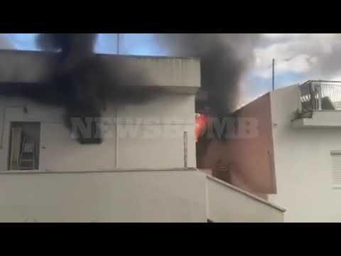 Ώρες αγωνίας για φωτιά που ξέσπασε σε διαμέρισμα στην Ελληνορώσων