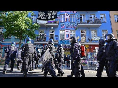 Πεδίο μάχης η Rigaer Strasse στο Βερολίνο