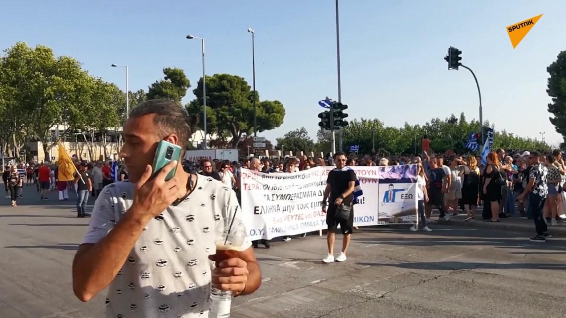 Συγκέντρωση στη Θεσσαλονίκη ενάντια στον υποχρεωτικό εμβολιασμό