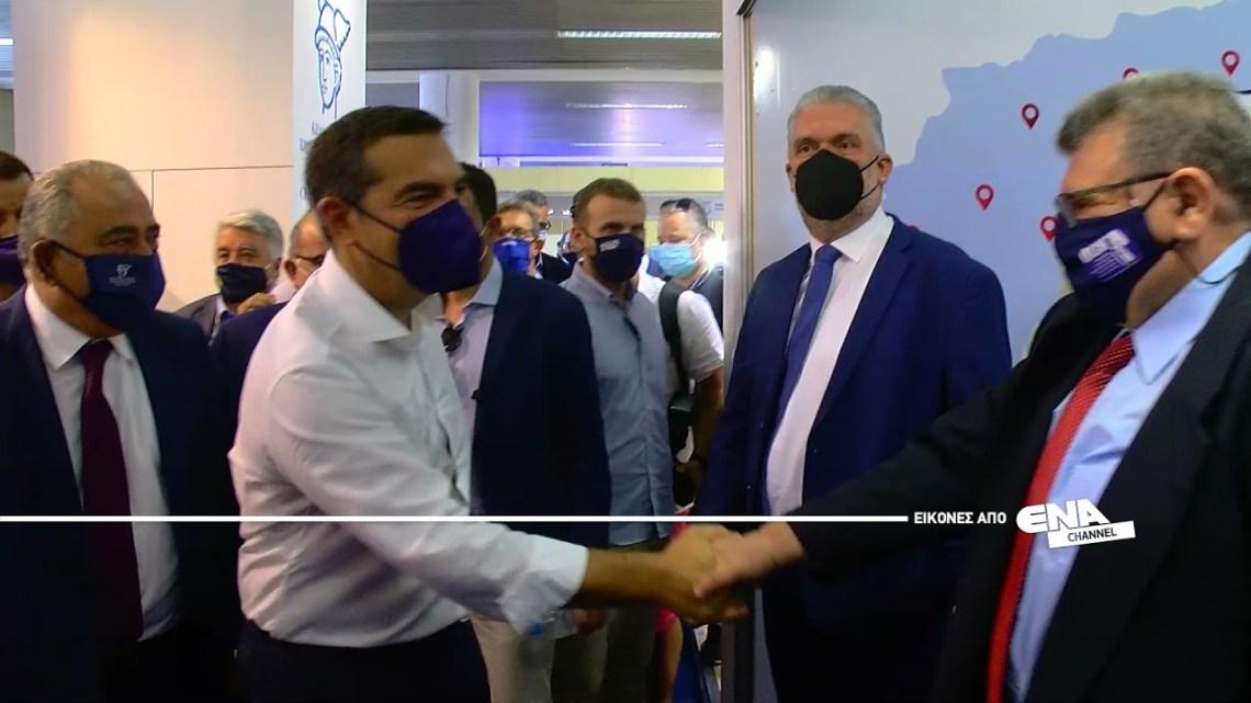 Ο Πρόεδρος του ΣΥΡΙΖΑ Αλέξης Τσίπρας στο περίπτερο της Κεντρικής Ένωσης Επιμελητηρίων Ελλάδος