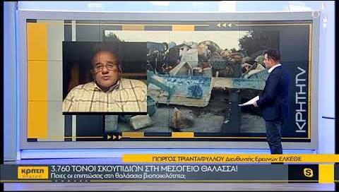 3.760 τόνοι σκουπιδιών στη Μεσόγειο θάλασσα