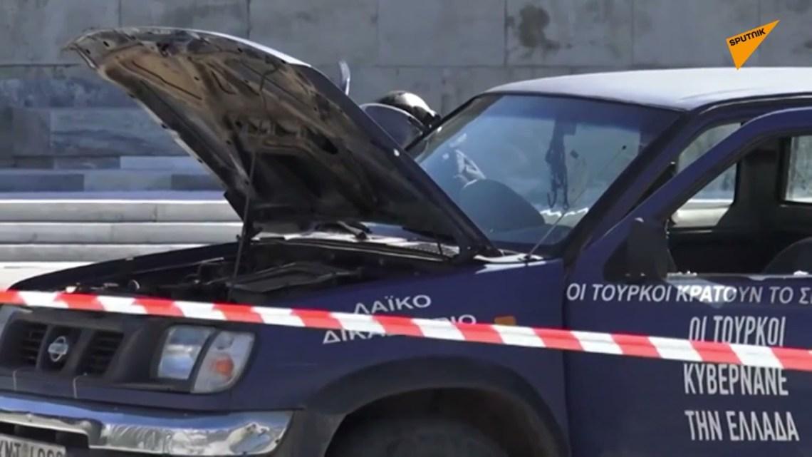 Αγροτικό έκανε «ντου» στο μνημείο του Άγνωστου Στρατιώτη – Απειλούσε να ανατιναχθεί ο οδηγός